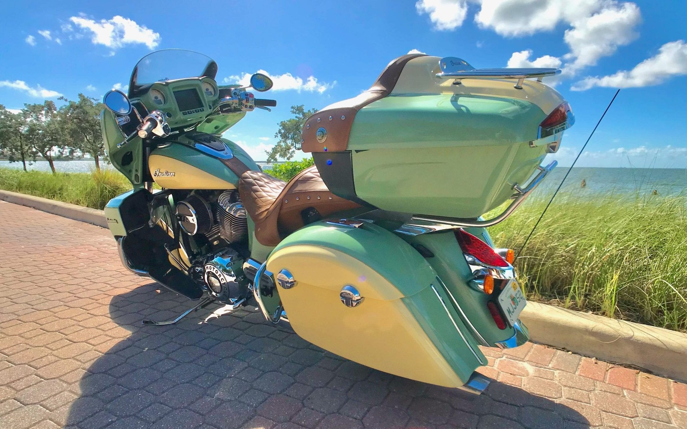 Indian Roadmaster Green Back Left