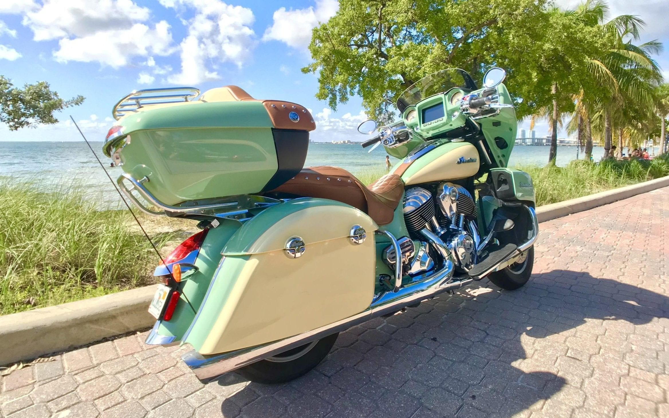 Indian Roadmaster Green Back Right